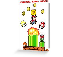 Here we go Mario Greeting Card