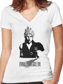 Cloud Strife 2 Women's Fitted V-Neck T-Shirt