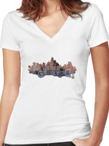 Keyblade Graveyard Women's Fitted V-Neck T-Shirt