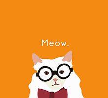 P. Alderman the White Cat in Orange by awcheung2