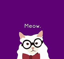 P. Alderman the White Cat in Purple by awcheung2