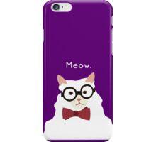 P. Alderman the White Cat in Purple iPhone Case/Skin