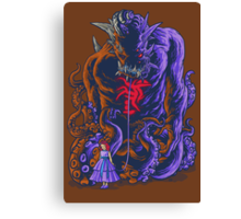 Demon and Child Canvas Print