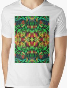 Virtual Psychedelic Space Mens V-Neck T-Shirt