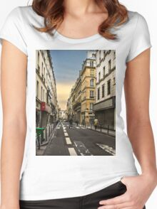 Parisian Streets Women's Fitted Scoop T-Shirt
