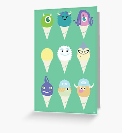 We all scream for ice cre- snow cones! Greeting Card