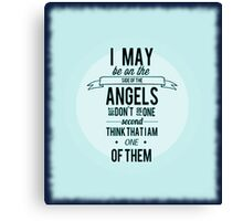 Sherlock Holmes Angel Quote Canvas Print