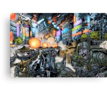 Godzilla Stomps Tokyo by Al Rio Canvas Print