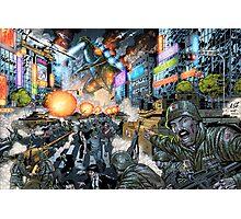 Godzilla Stomps Tokyo by Al Rio Photographic Print