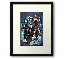 "Iron Man ""Landing"" Superhero Scene by Dheeraj Verma Framed Print"