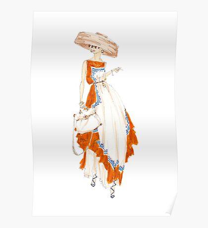 Paris Summer Dress Fashion Art Poster