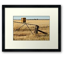 Haystack Gold Framed Print