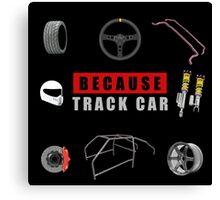 Because Track Car Canvas Print