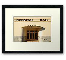 Art Deco Memorial Hall, Lockhart Framed Print