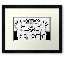 Genesis Live - Peter Gabriel 1970 Framed Print