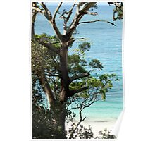 Turquoise and teal blue, Jervis Bay National Park Poster