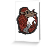 Plague doctor Greeting Card