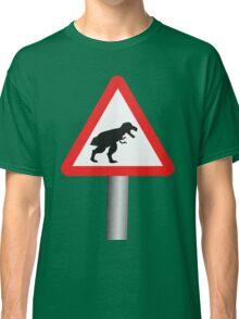 Danger: Tyrannosaur Crossing Classic T-Shirt