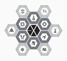 EXO - Hexagons (For Light Colours) by Wishful Thinking Shop