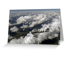 D-Day Hawker Typhoons diving Greeting Card