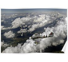 D-Day Hawker Typhoons diving Poster