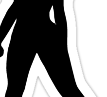 Hot Woman Silhouette Sticker