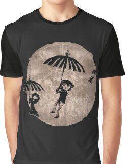 Baudelaire Umbrellas Graphic T-Shirt