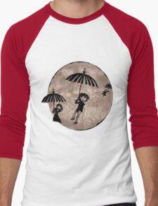 Baudelaire Umbrellas Men's Baseball ¾ T-Shirt