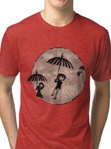Baudelaire Umbrellas Tri-blend T-Shirt