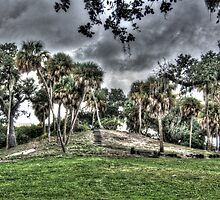 Indian Mound at Fort Pierce Park . Fort Pierce , Florida by jim1911
