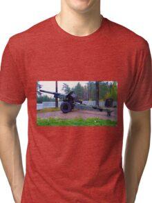 Gun at Lapland War memorial Tri-blend T-Shirt