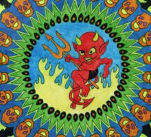 The Devil's Chasing Me Sticker