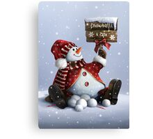 Xmas-Snowman Canvas Print