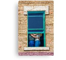 The Girl in the Ford in Winslow Arizona on Route 66 Canvas Print