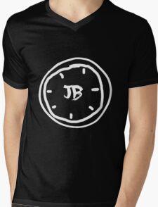 Clock Jb - White Mens V-Neck T-Shirt