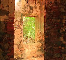 Windows through a Stone Mill by Roupen  Baker