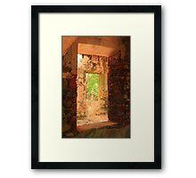 Windows through a Stone Mill Framed Print