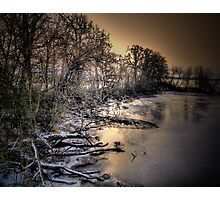 Snow and Ice on the Big Muddy Photographic Print