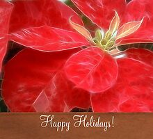 Mottled Red Poinsettia 1 Ephemeral Happy Holidays S1F1 by Christopher Johnson