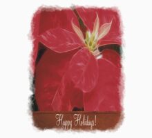 Mottled Red Poinsettia 1 Ephemeral Happy Holidays S1F1 Kids Clothes
