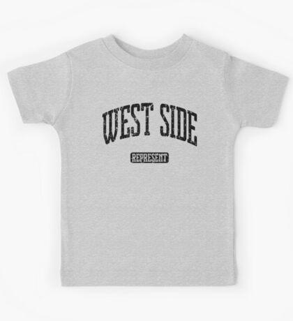 West Side Represent (Black Print) Kids Tee