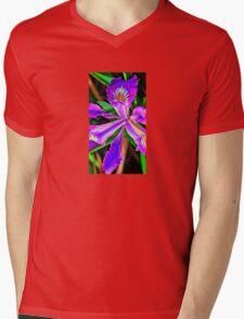 Beautiful Purple Flower Mens V-Neck T-Shirt
