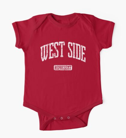 West Side Represent (White Print) One Piece - Short Sleeve