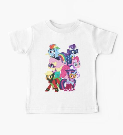 Power Ponies Reassemble Baby Tee