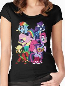 Power Ponies Reassemble Women's Fitted Scoop T-Shirt