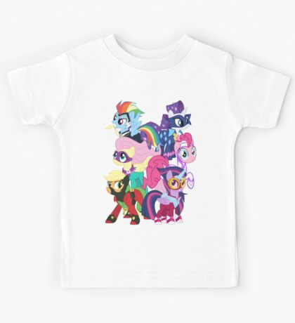 Power Ponies Reassemble Kids Tee