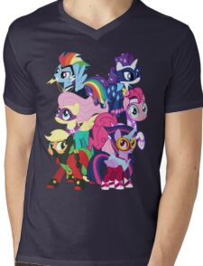 Power Ponies Reassemble Mens V-Neck T-Shirt