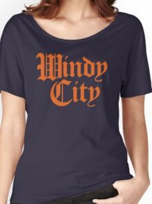 Windy City Gothic (Orange Print) Women's Relaxed Fit T-Shirt