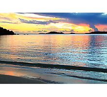 Shimmering Caribbean Sunset Seascape Photographic Print