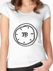 Clock Jb - Black Women's Fitted Scoop T-Shirt